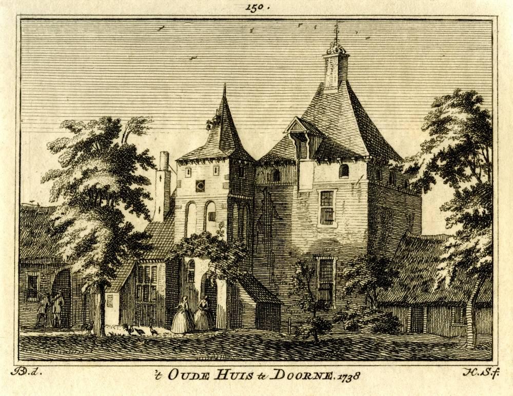 Klein Kasteel in Deurne. Tekening Jan de Beijer, gravure Hendrik Spilman (Uit: Het Verheerlykt Nederland, Isaac Tirion, 1745/1774)